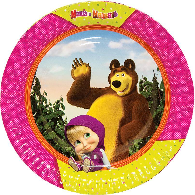 Картинка маша и медведь круглая
