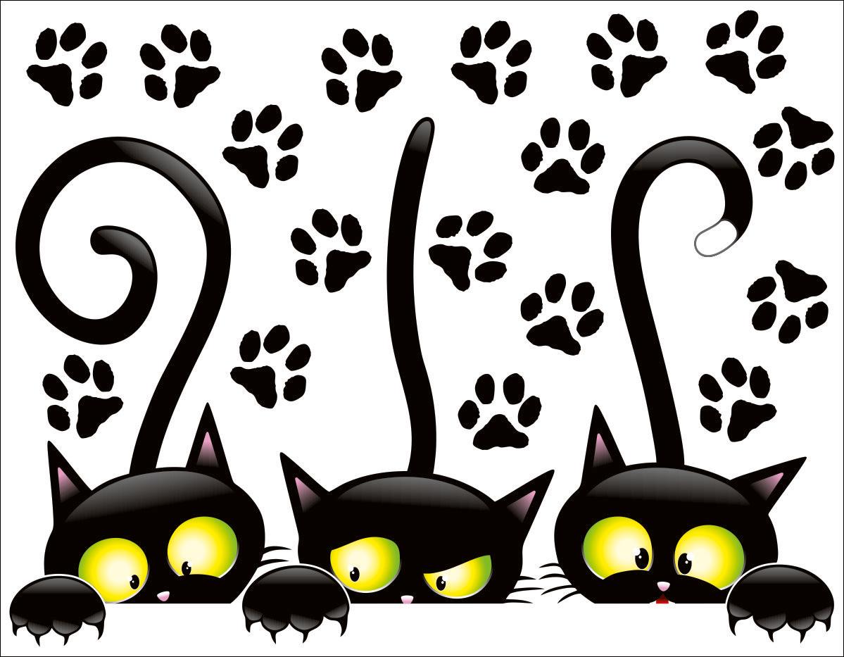 черный кот картинки на стену пациента наблюдается сразу