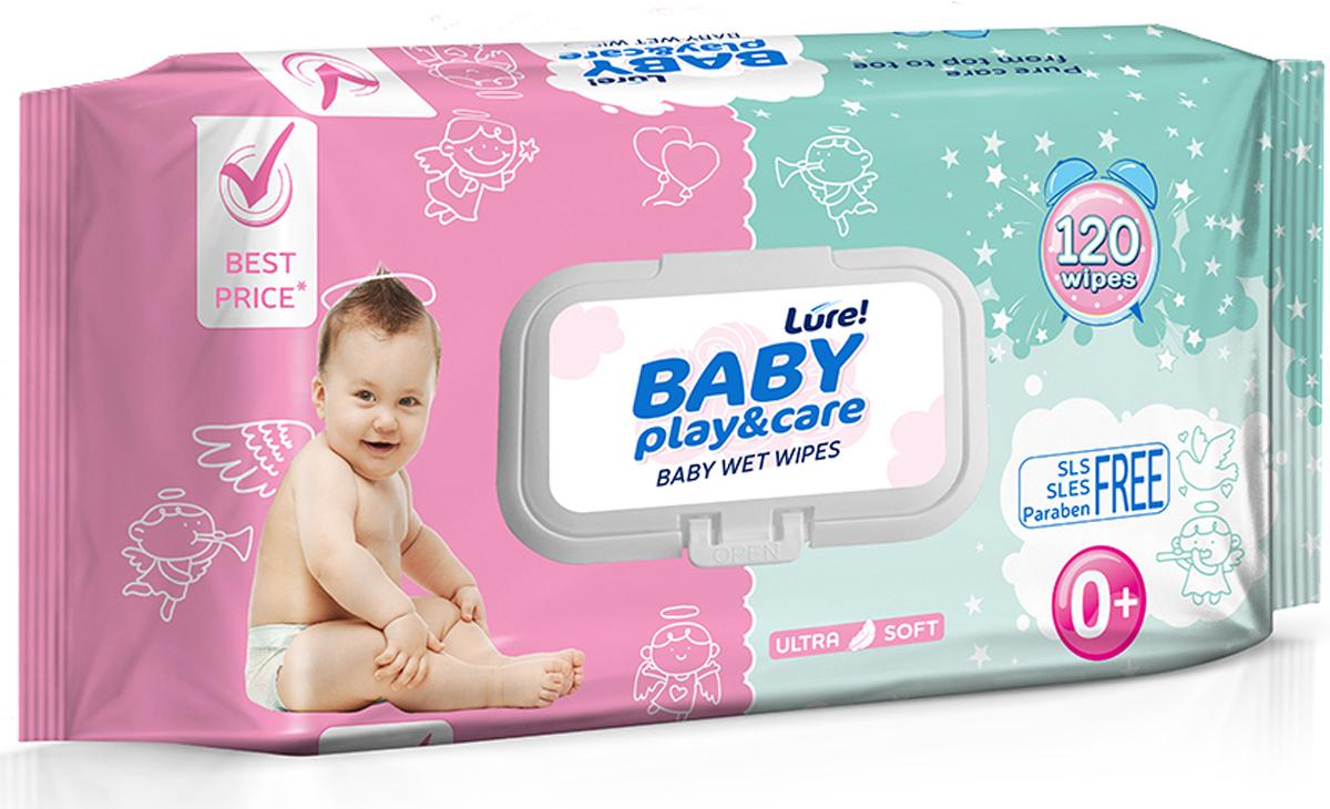 Lure Влажные салфетки для детей, 120 шт купить, цены, описание