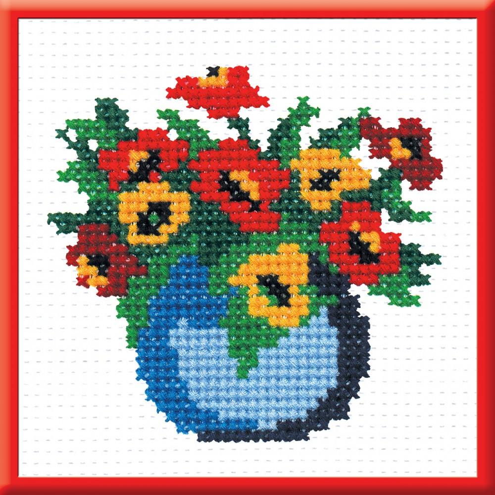 Картинки цветов для вышивки крестом 710