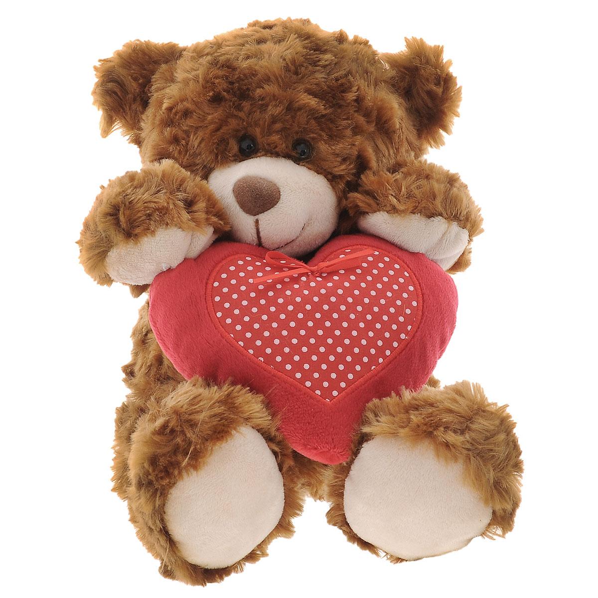 Ночи анимашки, открытка медведь с сердцем