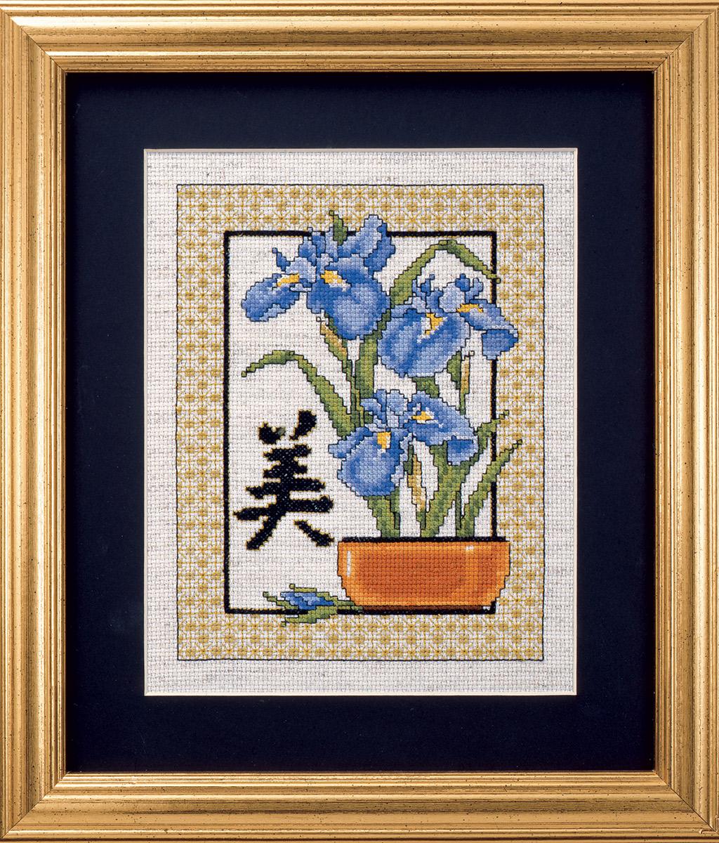 Картинки для вышивки крестиком ирисы